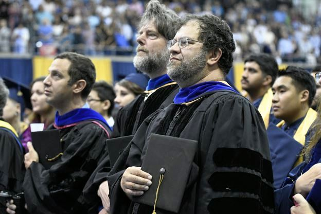 Dr. Jonathan Eisen at CBS Commencement 2019.