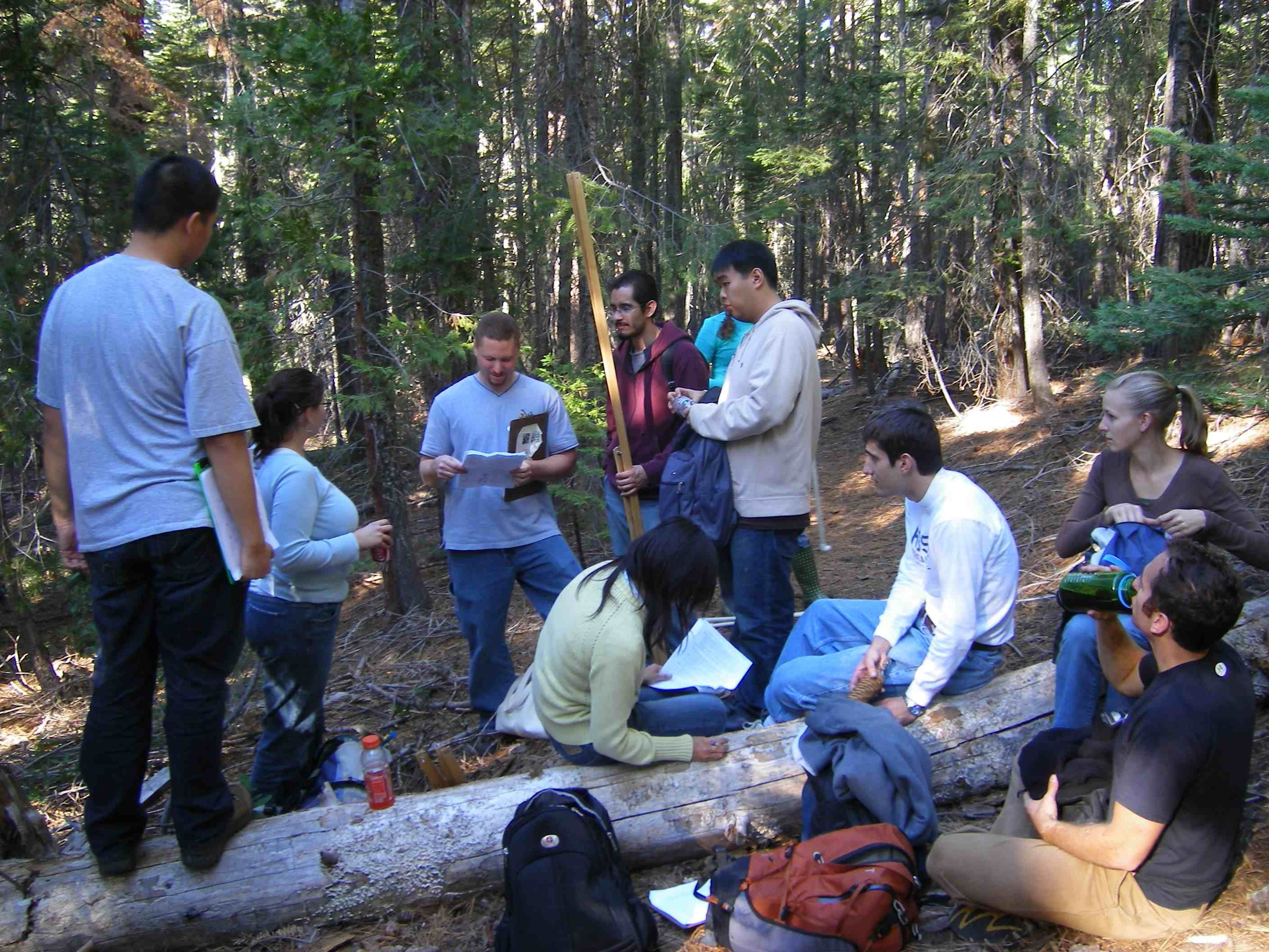 EVE 117 Students in Placer Big Trees Reserve, 2013