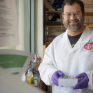 Jonathan Eisen in his lab at the UC Davis Genome Center, April 2016.